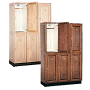 Solid Wood Lockers Double Tier / Country Club Lockers