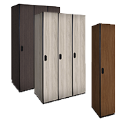 Wood Lockers Single Tier / Plastic Laminate Wood Lockers