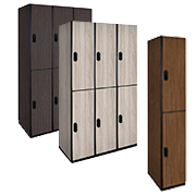 Wood Lockers Double Tier / Plastic Laminate Wood Lockers
