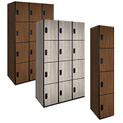 Wood Lockers Four Tier / Plastic Laminate Wood Lockers