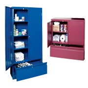 Storage Lockers with File Drawer