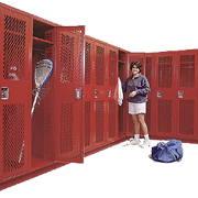 Single Tier Athletic Metal Lockers