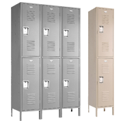 Double Tier Metal Lockers