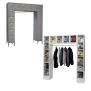 Sixteen Person Wall Mount Lockers