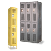 Double Tier Athletic Gym Lockers 