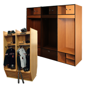Wood Sports Lockers / Plastic Laminate Lockers