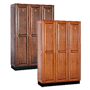 Solid Wood Lockers Single Tier / Whole Wood Lockers