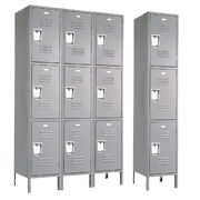Triple Tier Metal Lockers