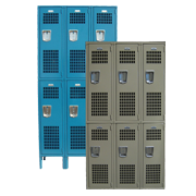 Double Tier Ventilated Gym Lockers 