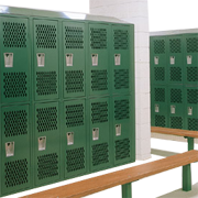 Double Tier Athletic Metal Lockers