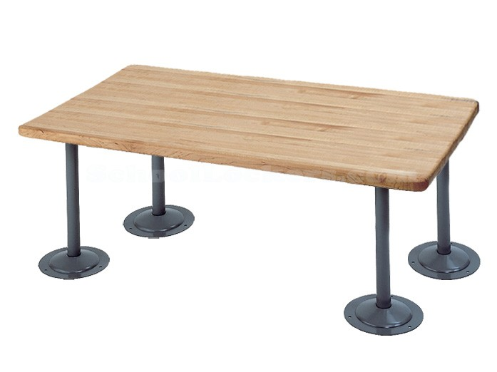 Penco ADA Locker Room Bench with Steel Pedestals