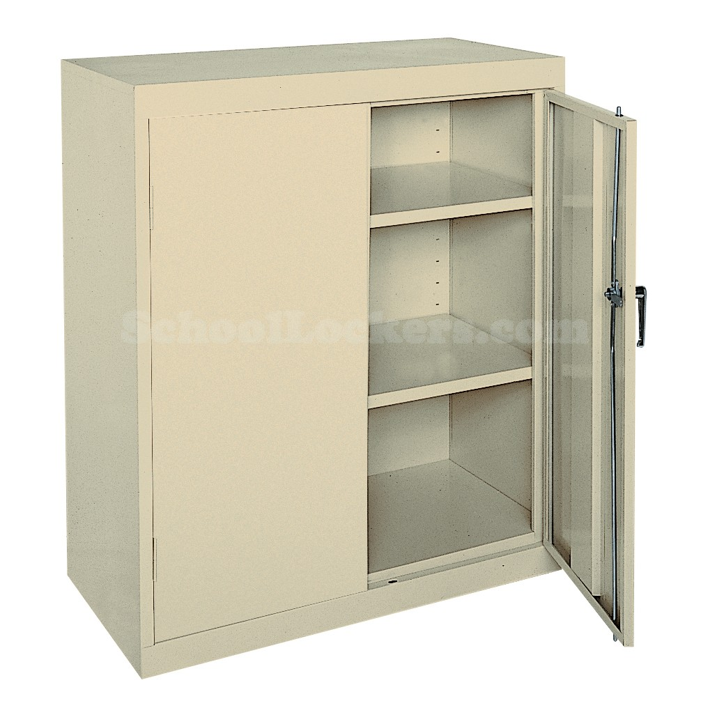 Easy assemble counter height storage cabinet for Cabinet height