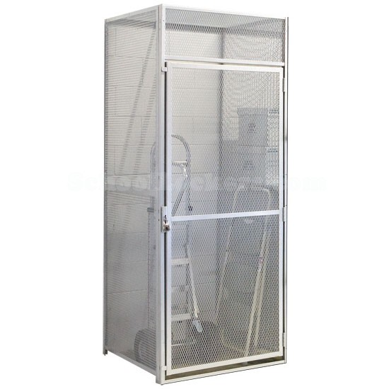 Single Door Metal Wire Mesh Storage Locker Add On Units