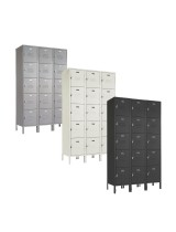 Five Tier Beige Box Lockers