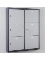 Gray tablet charging locker