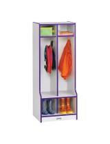 Colorful Kids Coat Locker with Cubbies and Seats