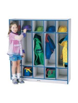Colorful Kids Lockers with Double Cubbies