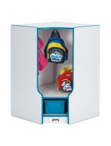 Corner Toddler Coat Locker with Cubby and Step