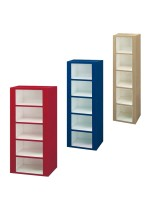 Five Compartment Plastic Cubby Lockers