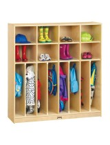 Kids 8-person Wooden Coat Lockers with Cubbies