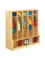 Kids Wooden Coat Lockers with Seats and Cubbies