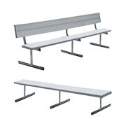 aluminum locker room benches