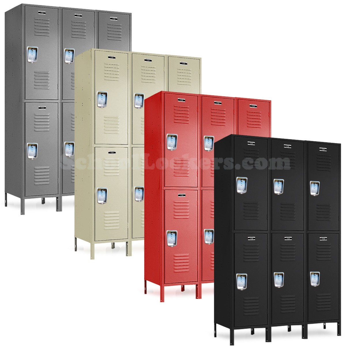Large double tier lockers for House lockers