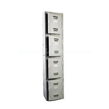 Four Tier Molded Plastic Lockers with Flat Top