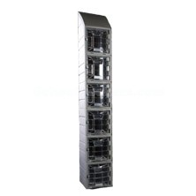 Six Tier Molded Plastic Lockers with Clear Doors and Slope Top