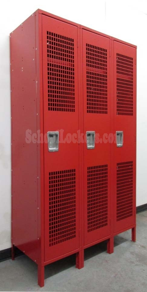 Discount Red Gym Lockers with Perforated Doors & Discount Lockers with Perforated Doors | SchoolLockers.com