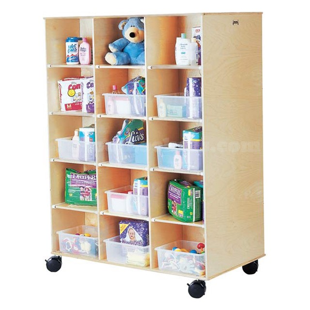 Double Sided Kids Wood Cubbies