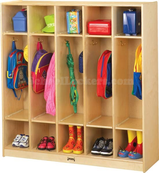 Open Kid S Coat Locker Group With Double Cubbies