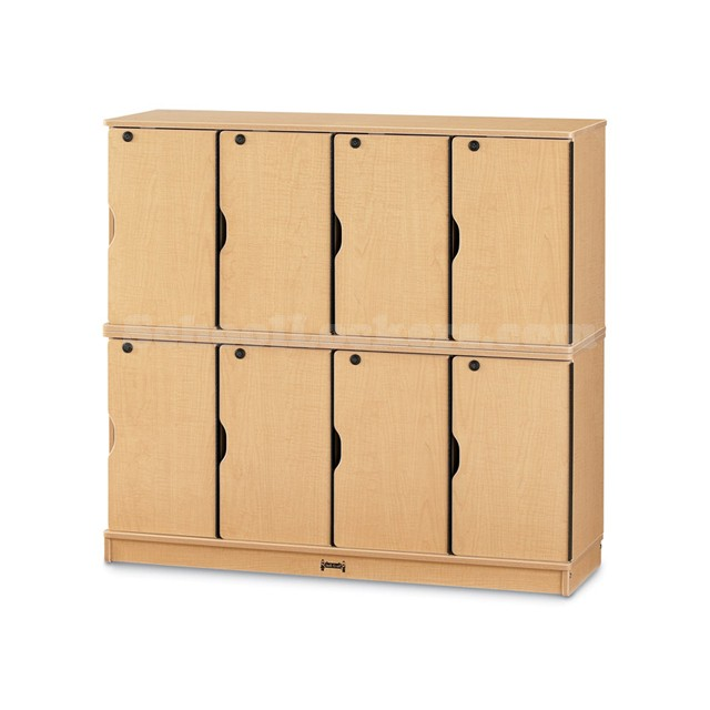 Kids Maple Lockers Double Stack