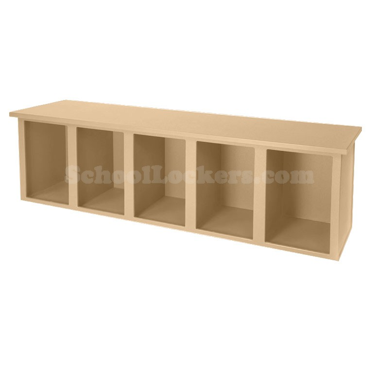 Plastic Bench With 5 Cubbies Beige