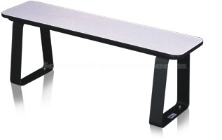 Plastic Laminate Locker Room Benches With Movable Pedestals