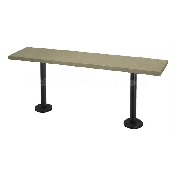 Plastic Locker Room Benches 12 Wide