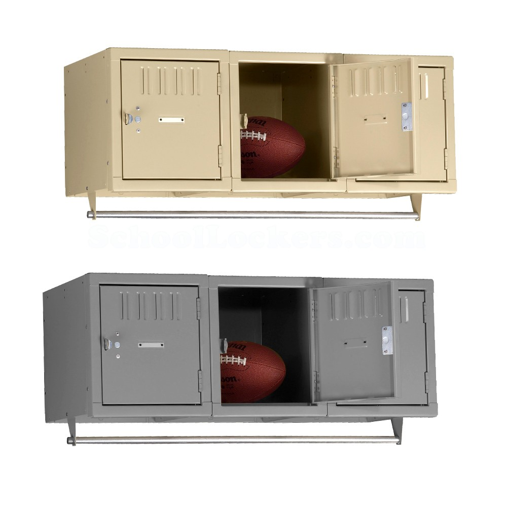 Tennsco 3 Person Wall Mount Metal Lockers