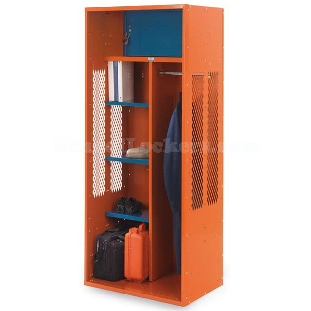 Wide Turnout Locker with Center Partition and Security Box