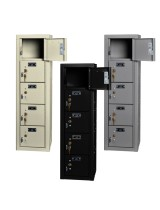 5 Cell Phone Lockers Unit with Key Locks