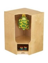 Toddler Wooden Corner Locker with Cubby and Step