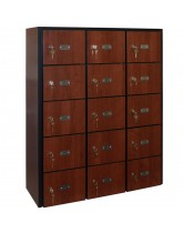 15 Wood Cell Phone Lockers Unit