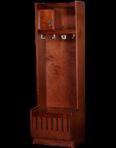Open Front Wood Locker Rosewood Maple Finish