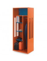 Turnout Locker with Center Partition and Security Box