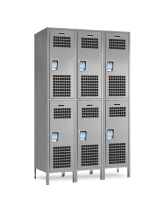 Ventilated Double Tier Lockers