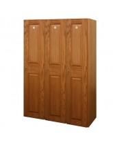 Single Tier Light Oak Veneer Wood Lockers