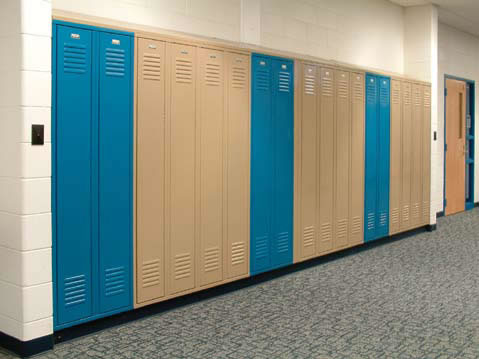 Electronic Lockers High School Installation
