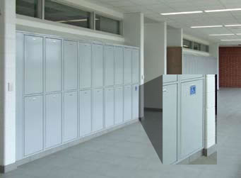High School Media Center - Day Use Lockers